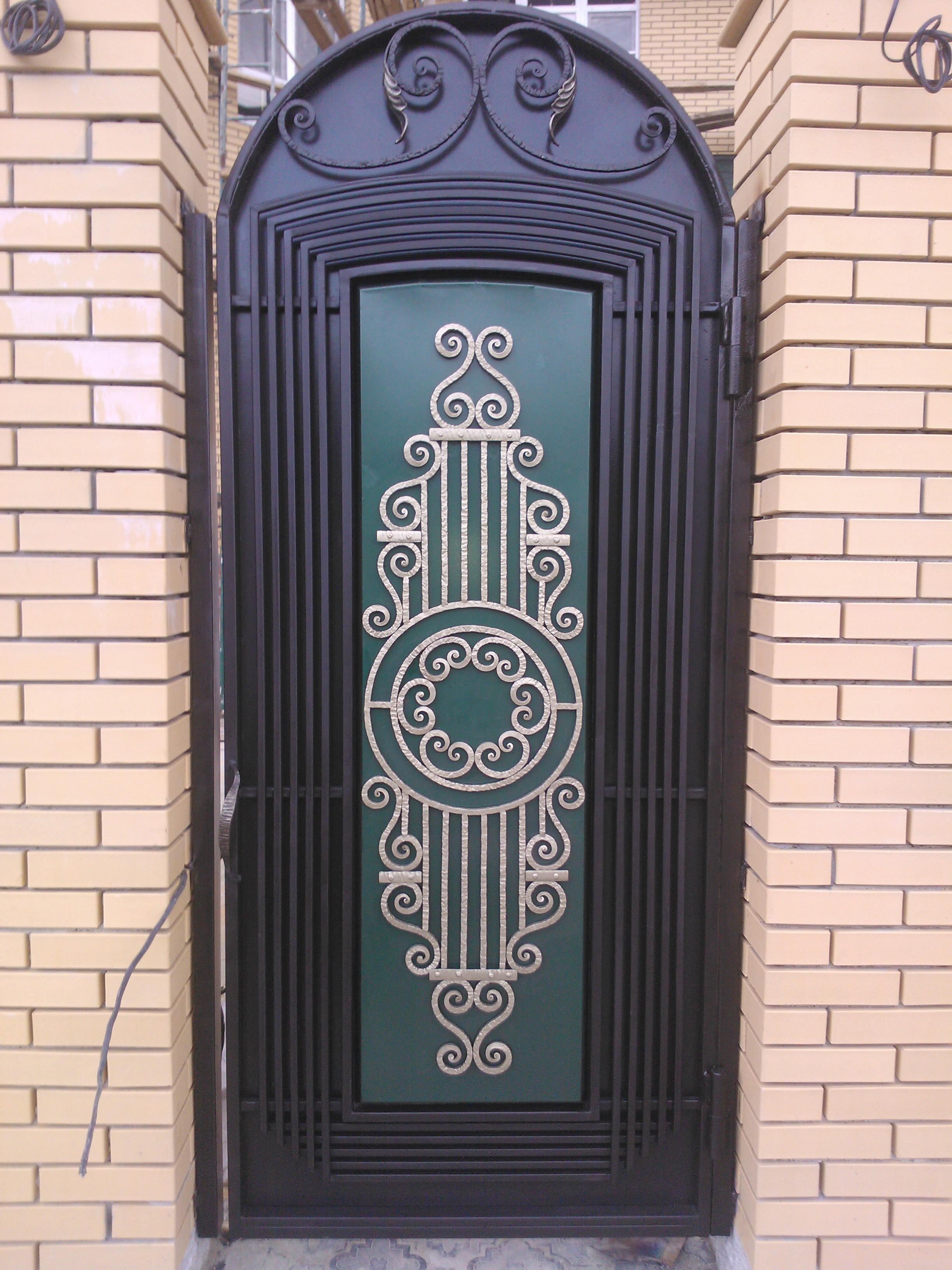 Картинки металлических дверей с ковкой